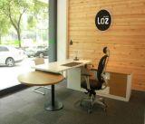 Melamine新しい方法設計事務所の家具L形の管理の現代ディレクター事務机のオフィス表