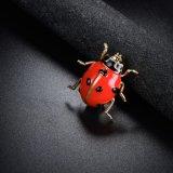 Chapado en oro blanco esmalte rojo Broche de accesorio de moda para vestir