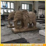 Statue en pierre d'éléphant de Bangkok