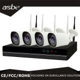 4CH 1.0MPNVR Bullet IP Wireless Câmera de vigilância CCTV Kit para Home