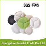 La fécule de maïs biodégradable PSM Biobased plaque 3 compartiments