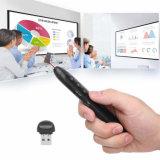 2.4G Dongle USB Presentador inalámbrico punto láser con el modo de presentador Ppt Powerpoint Keynote recarga