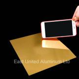 Or la surface brillante de miroir de la sublimation feuille en aluminium pour le transfert de chaleur appuyez sur