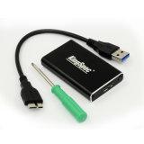 P2A4 USB 3.0 SSD機構の外部HDハード・ドライブのディスクボックス記憶サポート30mm*50mm B MsataへのMsata