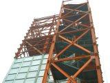 La construcción rápida de la construcción de muro de metal con parapeto y el entresuelo