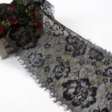 Pestañas de oro de encaje francés decoración floral tejido artesanal tejido tapizado de encaje de coser