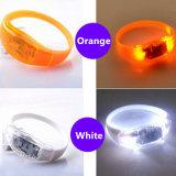 Wristband illuminato braccialetto multifunzionale di incandescenza del LED per il commercio all'ingrosso del partito di concerto
