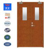 Наденьте теплозащитные деревянные двери пожарная дверь с BS сертификат (FD-ВА-002)