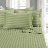贅沢の100%年の綿明白な染められた1cm/3cmのしまのあるベッド・カバー
