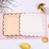 Gâteau personnalisé partie Goldcdisposable la plaque de papier imprimé de l'événement
