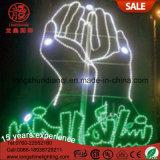 Outdoor LED décor islamique Ramadan Lanternes artisanales lumières décoratives