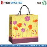 Bolso de compras de papel modificado para requisitos particulares de las señoras de la insignia