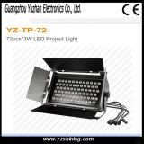 Iluminación ligera de la arandela de la pared de la etapa RGBW 72pcsx3w LED
