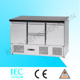 Refrigerador del acero inoxidable con la tapa superior de Inox S903 Ss