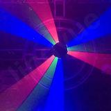RGB nueve cabezas de iluminación Araña DMX etapa del laser para el Club