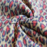2つの側面のブラシおよび1側面のAntipillingのヒョウプリント北極の羊毛
