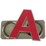 Usine de la Chine faisant un Pin de revers d'alphabet avec l'aimant (w-338)