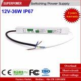일정한 전압 12V 36W LED 방수 엇바꾸기 전력 공급 IP67