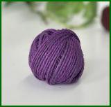 Twine colorée au jute colorée pour le jardinage (pourpre)