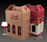 De golf Doos van het Karton van de Fluit voor de Verpakking van de Fles van de Wijn