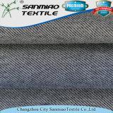 Il doppio dell'indaco di stile della saia ha barrato il cotone che lavora a maglia il tessuto lavorato a maglia del denim per i jeans