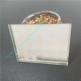 Aangepast Zijde Afgedrukt Glas/Gelamineerd Glas/de Bril van de Veiligheid/Decoratief Glas met Gouden Zijde
