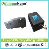 Высокие батареи лития 48V 200ah тарифа разрядки для солнечной домашней пользы с решетки
