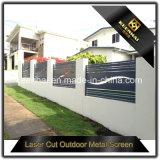 Laser Cut perforado metal de aluminio Hoja de la cerca del jardín