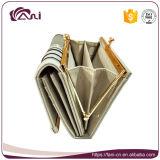 Modèle de mode de pochette de bâti en métal, OEM en cuir de pochette et de bourse d'unité centrale de dames de Yong