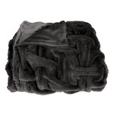 100% Polyester Faux Fur Rug avec Backside Short Plush Blanket