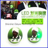 Kundenspezifische helle Schule-Tasten-Namensabzeichen des Firmenzeichen-LED