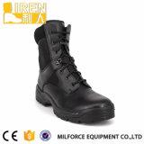 De zwarte Goedkope Echte Militaire Laarzen van het Leer