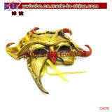 プレデターマスクシルバーゴールドハロウィンコスチュームテレビファンシードレス(PS1021)