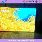 Publicidad de pantalla de fundición a presión a troquel a todo color de alquiler de interior del panel de la tablilla de anuncios de LED P5