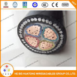 Câble d'alimentation en fibre de plomb en armure en cuivre