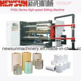 Controlado por PLC de alta velocidad de la inspección y la máquina de corte de material rodante