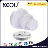 Panneau LED montées en surface ronde 6W 12W 18W 24W à intensité réglable