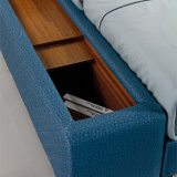 침실 가구 Fb8047A를 위한 일본과 한국 현대 작풍 진짜 가죽 침대