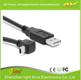 Juiste Angle Mini USB Male aan USB een Male 2.0 Cable