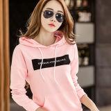 Изготовленный на заказ оптовый розовый пуловер Hoodies женщин