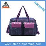 紫色の印刷された屋外スポーツギヤDuffelの荷物旅行袋