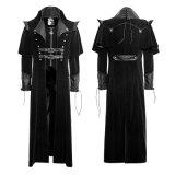 Gotischer kühler langer Mantel-Mantel des schwarzen Sprung-Y-636