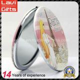 Espejo de bolsillo hermoso promocional de la PU para el regalo femenino