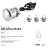 3W 12V 24V IP67 LED Lado Emitindo Lâmpada Outdoor LED Underground Light