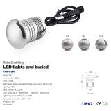 3W 12V 24V IP67 LED Seite, die im Freien LED Tiefbaulicht der Lampen-ausstrahlt