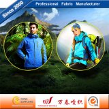 Tela funcional transpirable caliente con TPU Flocado de chaqueta al aire libre
