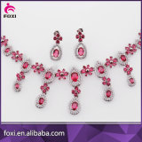 China-Fabrik-Lieferanten-arabisches Wedding Dubai-weißes Goldschmucksache-Set