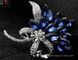Cristal de Plata de aleación de zinc Rhinestone de la broche de la joyería para la señora (TM006)