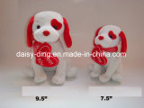 Plush Valentine Dog with Heart (embrassez-moi)