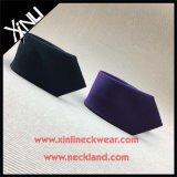 Hechos a mano flaco sólido de color de seda tejida corbatas para hombres